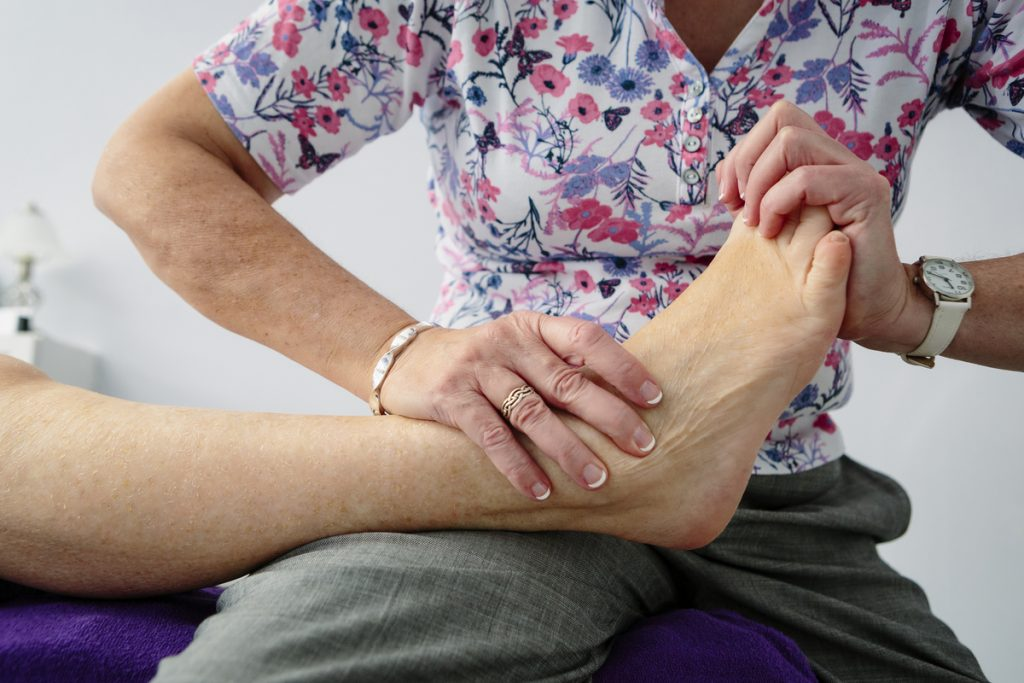 Sue Woodriffe - Bowen technique used on foot