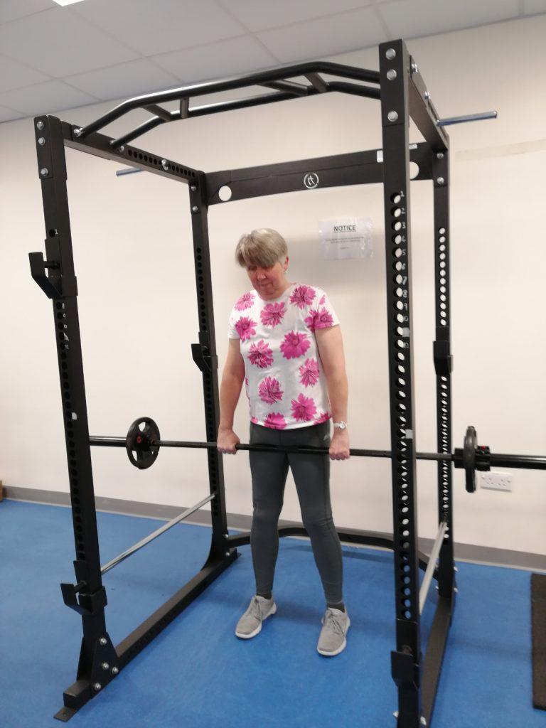 Sue Woodriffe - Bowen therapist weightlifting